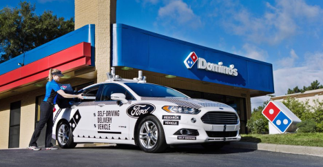 Domino's and Ford team up for self-driving pizza delivery cars