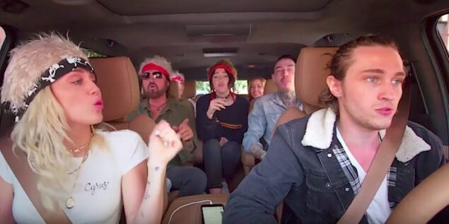 Miley Cyrus And Her Family Did 'Carpool Karaoke' & It's Honestly The Best One Yet