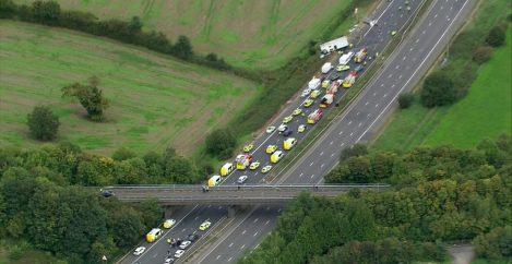 Three critically ill after fatal M5 crash
