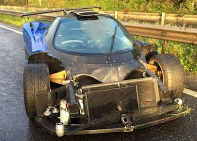 'One-off' 1.5m supercar damaged in crash