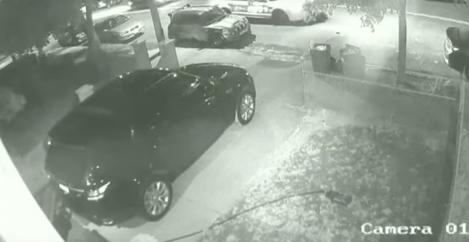 Bad driver blocks a driveway, gets a huge dose of instant karma