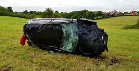 Car Flies off Track