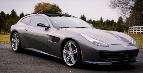 Hauling a Christmas Tree in a Ferrari Is Totally Normal