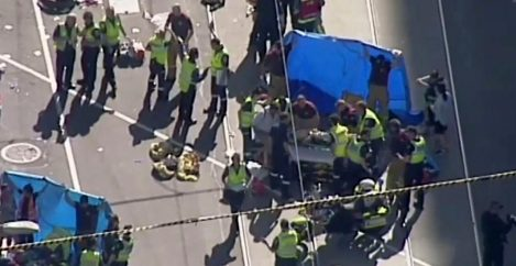 SUV plows into pedestrians in Australia; two in custody