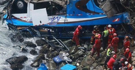 Dozens killed after bus careens over 'Devil's Curve' cliff in Peru