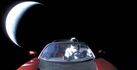 Elon Musk posts the final selfie of his Tesla as it rockets toward Mars