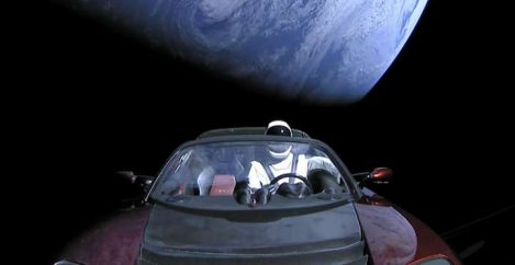There Is A Secret Message Hidden On Board The Tesla Floating Through Space