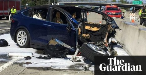 Tesla car that crashed and killed driver was running on Autopilot, firm says