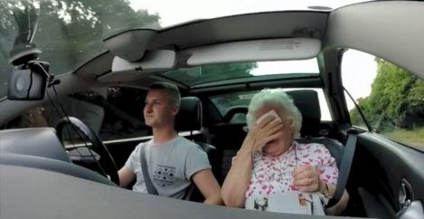 She Got Into Her Grandson's Car, But When He Turned The Radio On, She Began To Cry