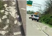 Armored Truck Spills $600,000 Onto The Highway And It Looks Just Like That Dream You Once Had